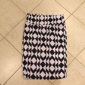 Lularoe Black and White Knee Length Skirt